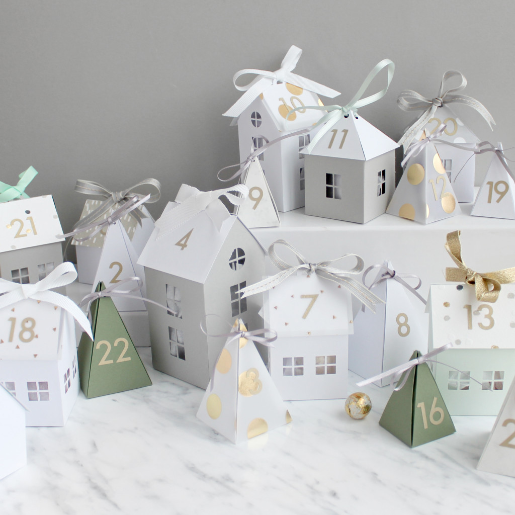 Sarah Louise Matthews 3D Paper Engineering Advent Town Houses Advent Calendar