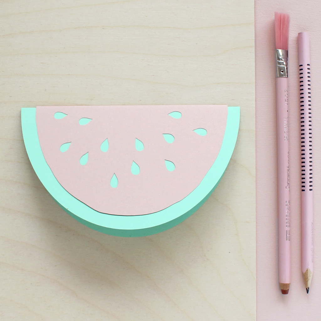 Sarah Louise Matthews Paper Cut Watermelon Slice Greetings Card Stationery