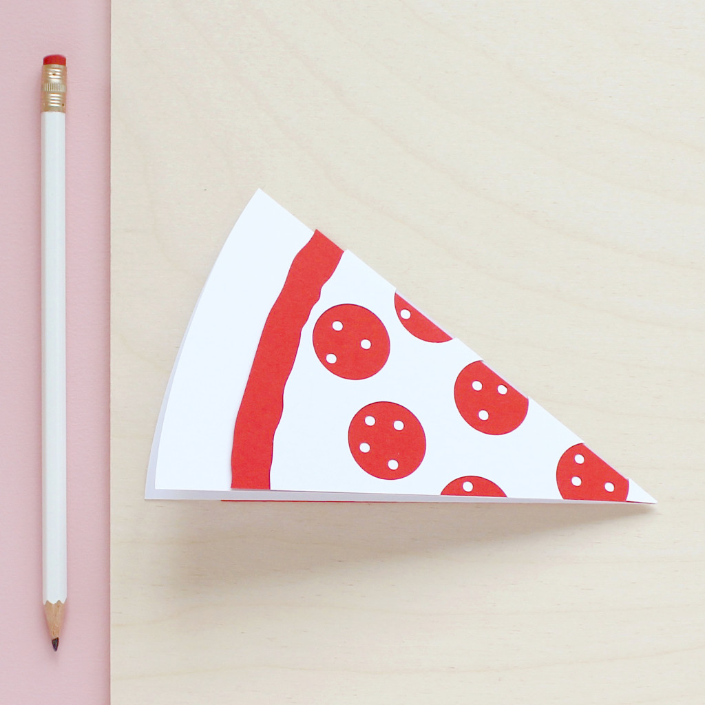 Papercut Pizza Slice Card