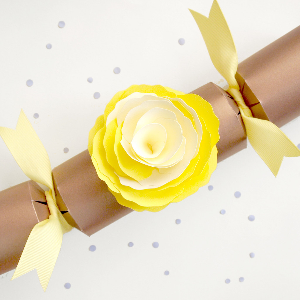 Yellow Paper Flower Cracker