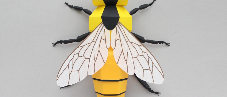 3D Paper Bee