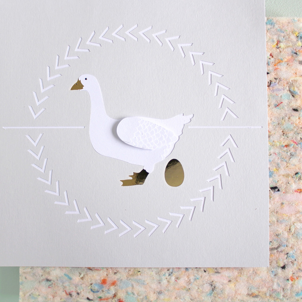 12 days of christmas geese a laying illustration