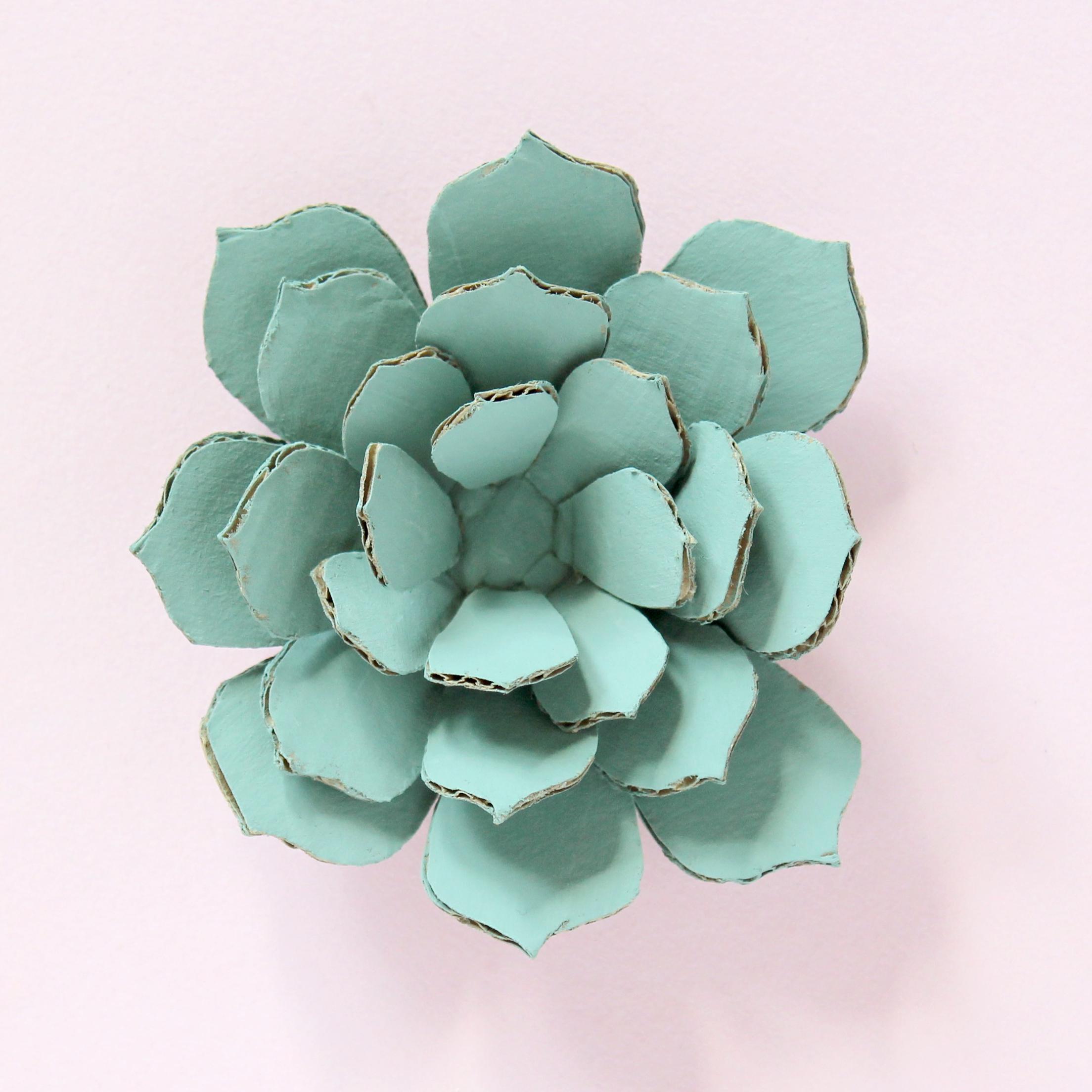 DIY Cardboard Paper Cactus and Succulents